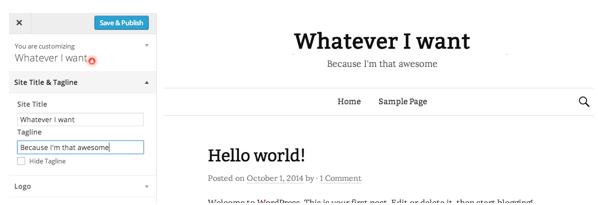 Screen Capture of WordPress