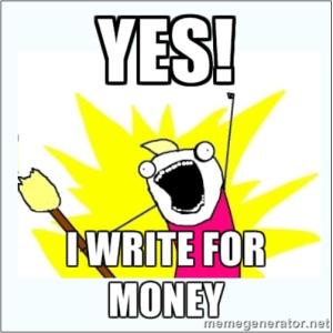 Yes! I Write For Money image.