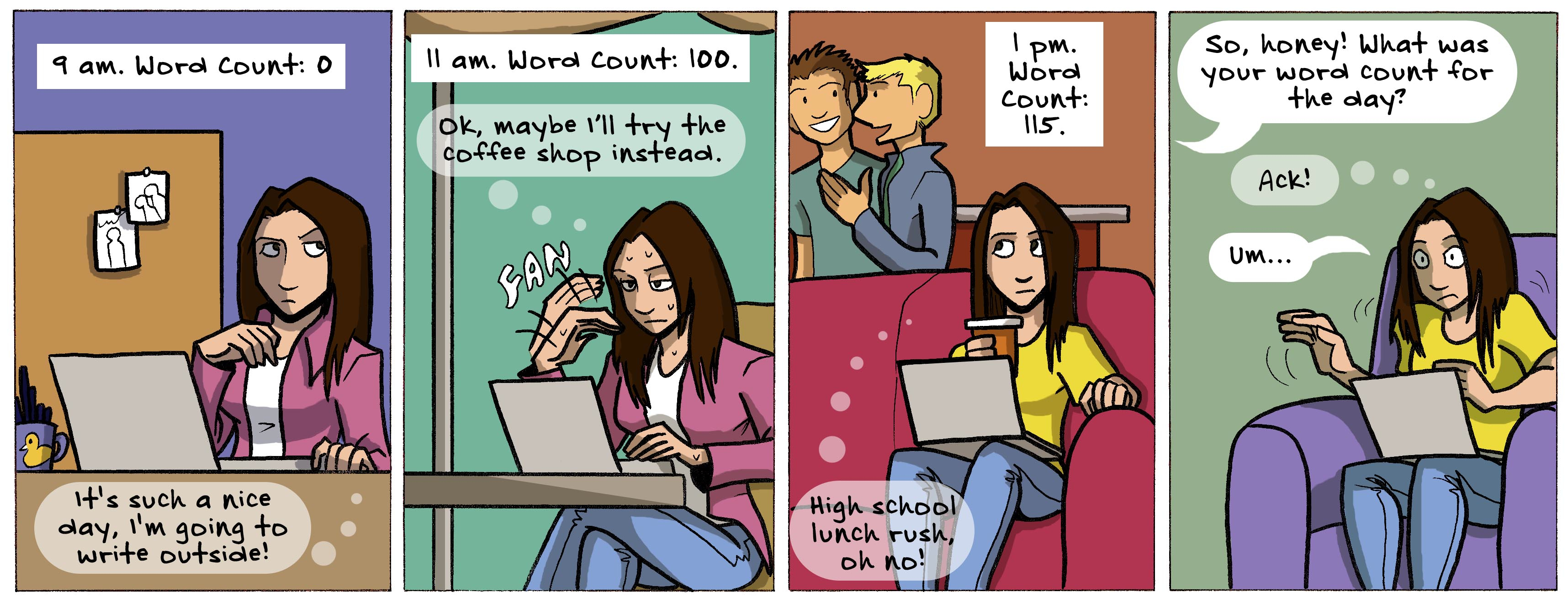 Getting your word count done comic