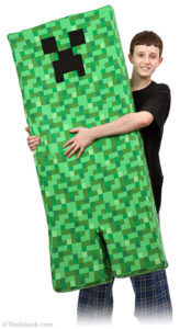 Creeper body pillow for geeks